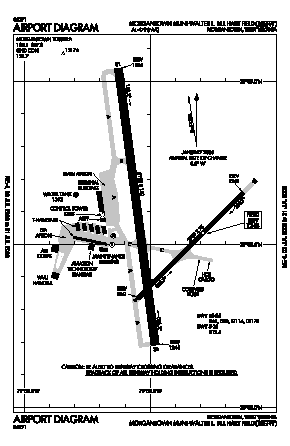 Morgantown Muni-walter L. Bill Hart Fld Airport (MGW) diagram