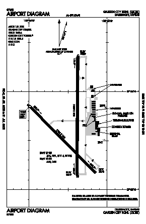 Garden City Regional Airport (GCK) diagram