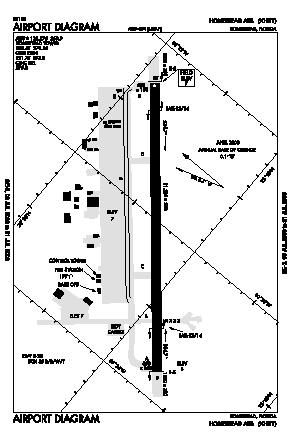 Homestead Arb Airport (HST) diagram