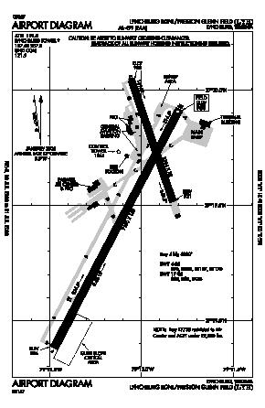 Lynchburg Rgnl/preston Glenn Fld Airport (LYH) diagram