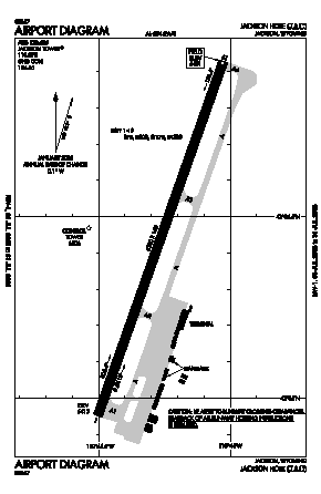 Jackson Hole Airport (JAC) diagram