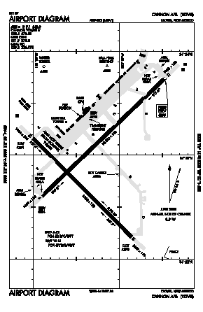 Cannon Afb Airport (CVS) diagram