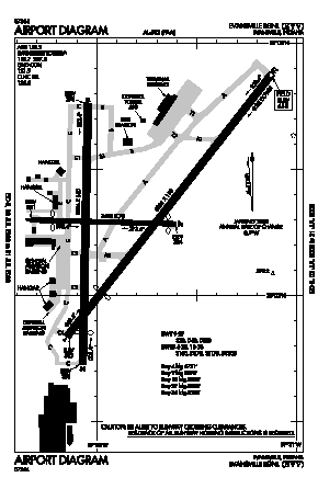 Evansville Regional Airport (EVV) diagram