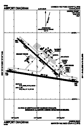 Lewiston-nez Perce County Airport (LWS) diagram