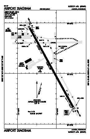 Buckley Afb Map Buckley Afb Airport (BKF)   Map, Aerial Photo, Diagram