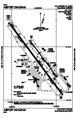 Palm Springs International Airport (PSP) diagram