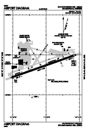 San Bernardino International Airport (SBD) diagram