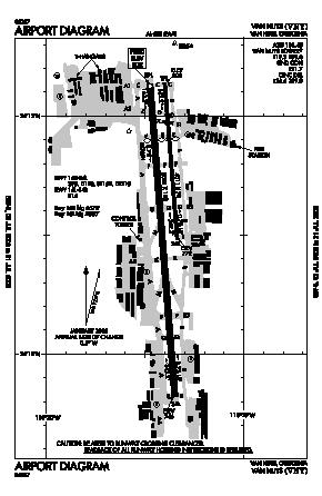 Van Nuys Airport (VNY) diagram