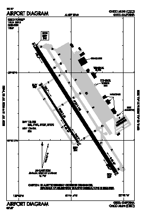 Chico Municipal Airport (CIC) diagram