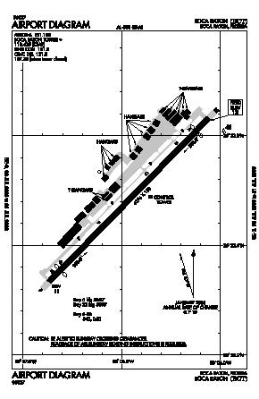 Boca Raton Airport (BCT) diagram