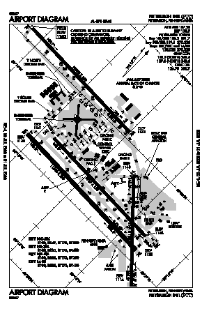 Pittsburgh International Airport (PIT) diagram