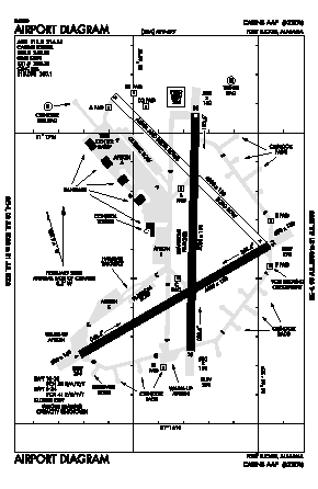 Cairns Aaf (fort Rucker) Airport (OZR) diagram