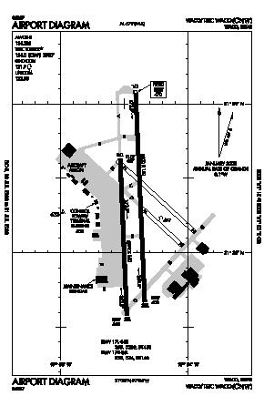 Tstc Waco Airport (CNW) diagram