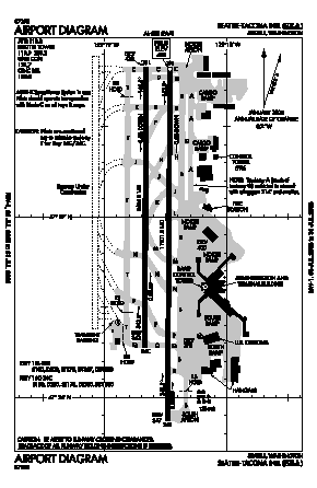 Seattle-tacoma International Airport (SEA) - Map, Aerial Photo, Diagram
