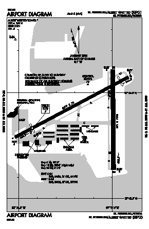 Albert Whitted Airport (SPG) diagram