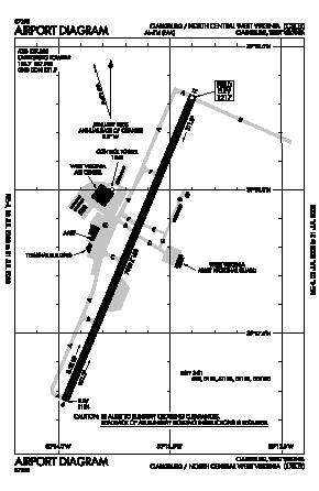 North Central West Virginia Airport (CKB) diagram
