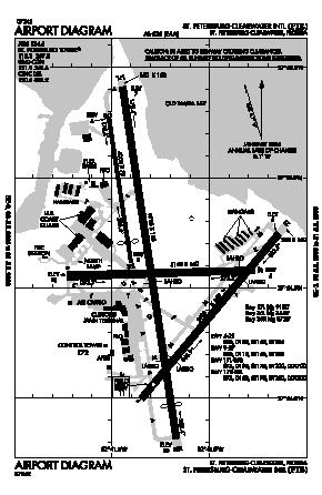 St Petersburg-clearwater International Airport (PIE) diagram