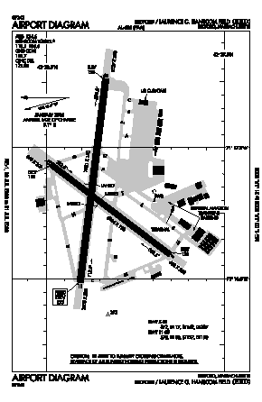 Laurence G Hanscom Fld Airport (BED) diagram