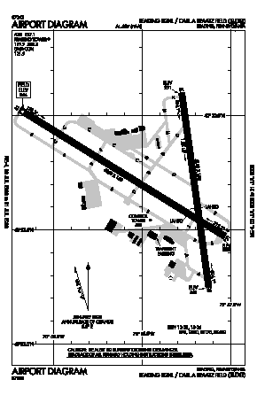 Reading Rgnl/carl A Spaatz Field Airport (RDG) diagram