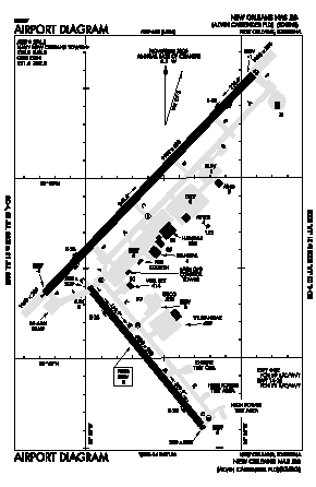 New Orleans Nas Jrb/alvin Callender Field/ Airport (NBG) diagram