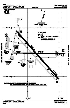 Minot International Airport (MOT) diagram