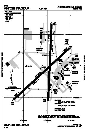 Cak Airport Map Akron canton Regional Airport (CAK)   Map, Aerial Photo, Diagram