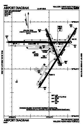 Wallops Flight Facility Airport (WAL) diagram