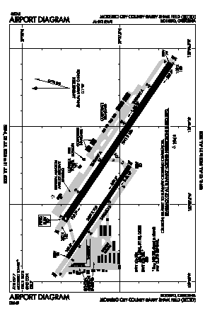 Modesto City-co-harry Sham Fld Airport (MOD) diagram