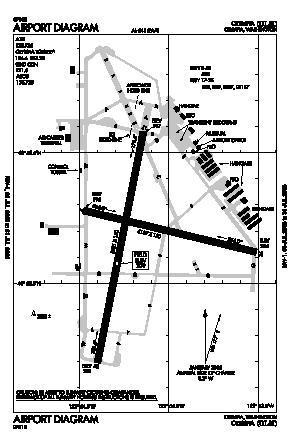 Olympia Regional Airport (OLM) diagram