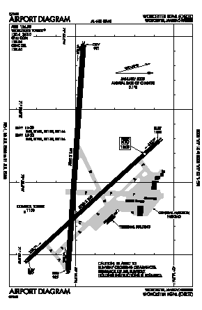 Worcester Regional Airport (ORH) diagram