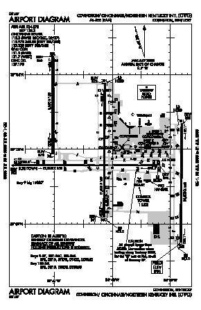 Cincinnati/northern Kentucky International Airport (CVG) diagram