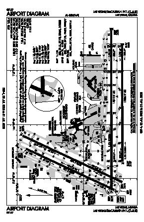 Las Airport Diagram | Mc Carran International Airport Las Map Aerial Photo Diagram