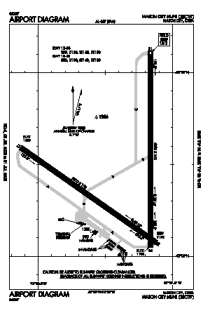 Mason City Municipal Airport (MCW) diagram