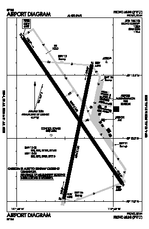 Provo Municipal Airport (PVU) diagram