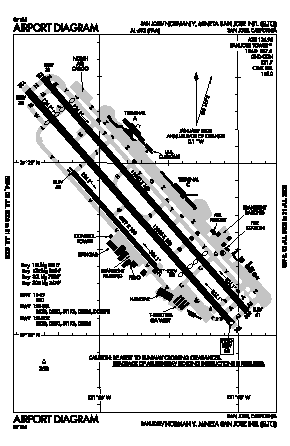 Norman Y. Mineta San Jose International Airport (SJC) diagram