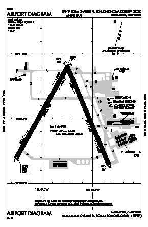 Charles M. Schulz - Sonoma County Airport (STS) diagram