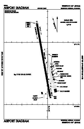 Redstone Aaf Airport (HUA) diagram