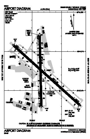 Republic Airport (FRG) diagram