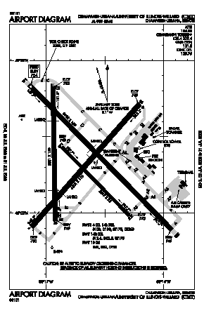 University Of Illinois-willard Airport (CMI) diagram