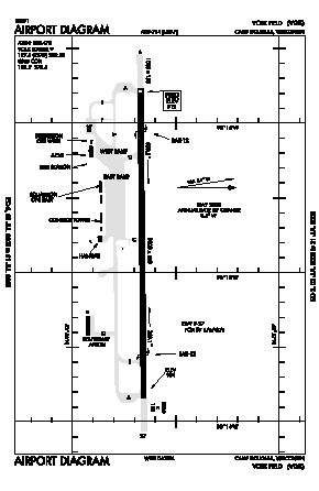 Volk Field Airport (VOK) diagram