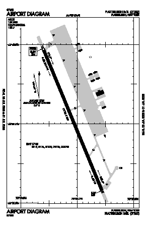 Plattsburgh International Airport (PBG) diagram
