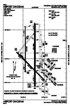 Wiley Post Airport (PWA) diagram