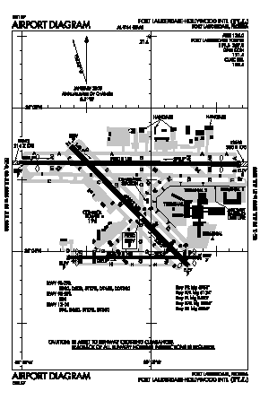 Fort Lauderdale/hollywood International Airport (FLL) diagram