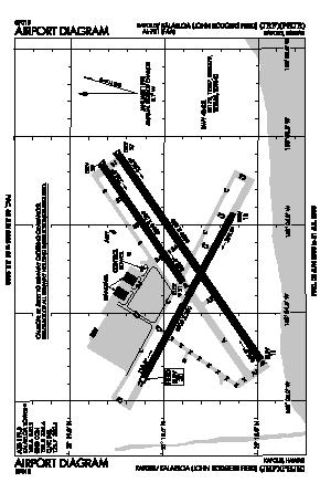 Kalaeloa (john Rodgers Field) Airport (JRF) diagram