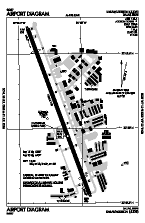 Addison Airport (ADS) diagram
