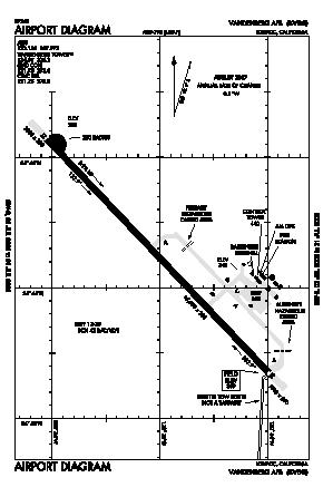 Vandenberg Afb Airport (VBG) diagram