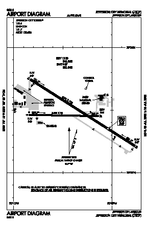 Jefferson City Memorial Airport (JEF) diagram