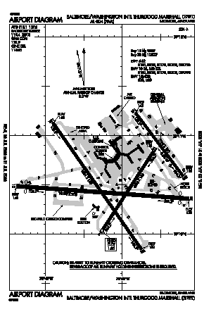 Baltimore/washington International Thurgood Marshal Airport (BWI) diagram