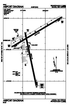Lebanon Municipal Airport (LEB) diagram