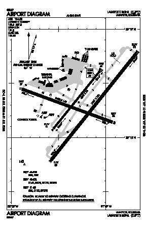 Lafayette Regional Airport (LFT) diagram
